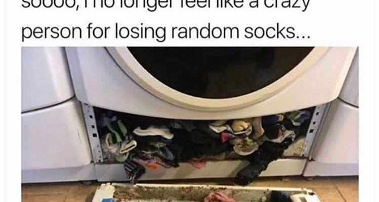 Here is why you always lose your socks after washing