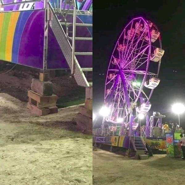 Extremely safe ferris wheel