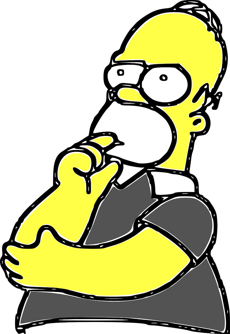 homer simpsons, cartoon, comic