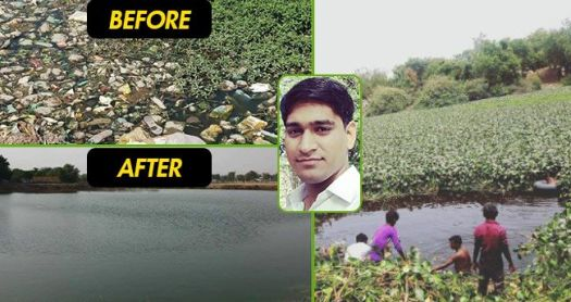 A 25 YO Man From UP Has Brought Life To A Dried Lake
