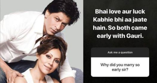 Shah Rukh Khan Gives Reason Behind His Decision To Marry So Early