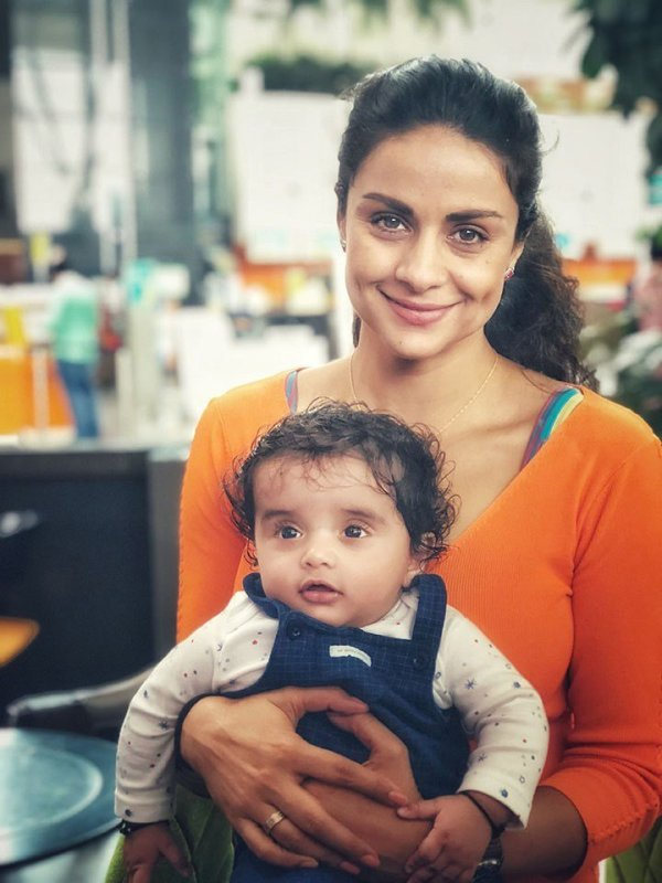 Gul Panag Introduces Her 6-months-old Baby Nihal To The ...