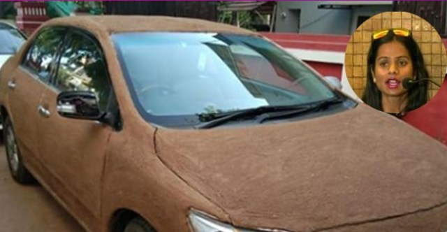 Ahmedabad-based Woman Paints Car with Cow Dung to Beat the Heat in Hot Summer