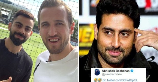 Virat Kohli And Harry Kane Pose For A Pic Together And Abhishek Bachchan Trolls The Indian Captain