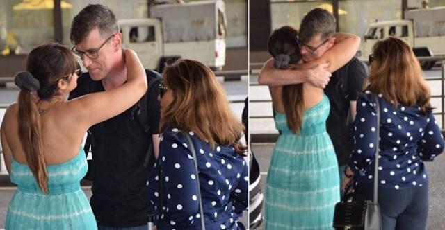 Ileana D'Cruz Bids an Emotional Adieu to Her Husband Andrew Kneebone at Airport