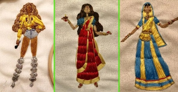 Sewing Artist Creates Hand stitched Celebrities Like Beyonce And Madhuri Dixit