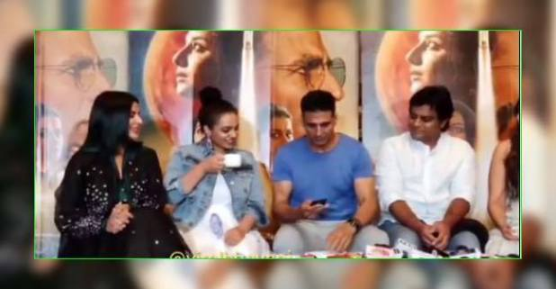 Akshay Kumar interrupts Mission Mangal press conference for a reasonable cause; watch video