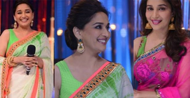 Get Inspiration from Topmost Looks of Madhuri Dixit in Beautiful Sarees