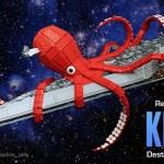 LEGO Space Kraken Demolishing a Star Wars Super Star Destroyer