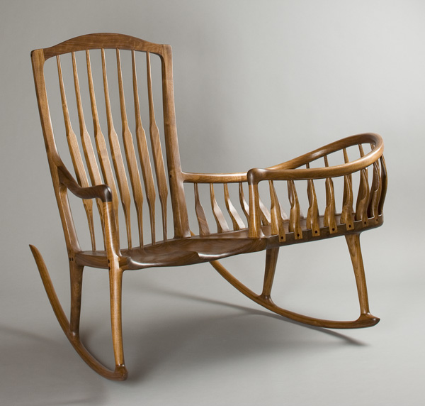 Rocker Cradle, A Combination Rocking Chair And Cradle