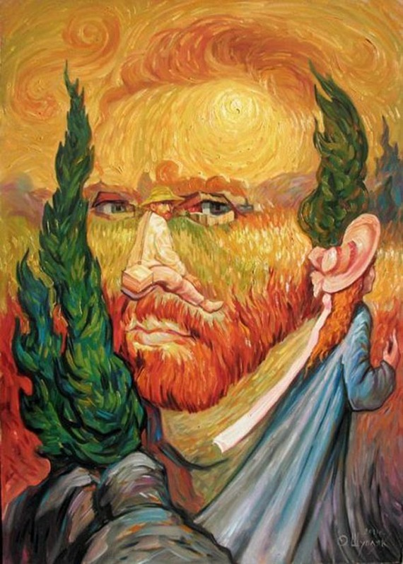Optical illusion portraits  by Oleg Shuplyak