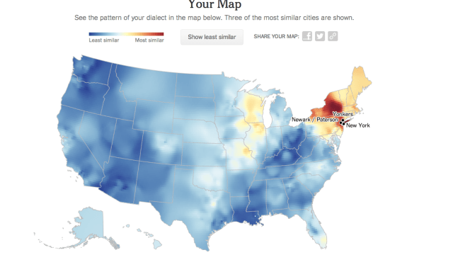 Dialect Map Of The United States.Interactive Map Of North American English Dialects