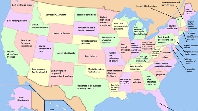 The United States of Shame, What Each State Is Worst At