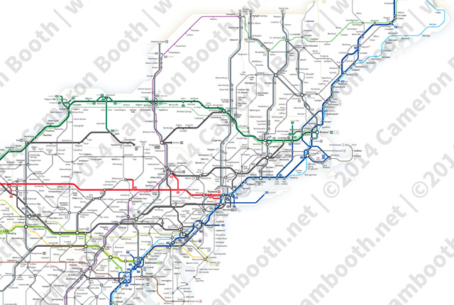 This map was created by a user. A Simplified Map Of Every Interstate And Us Highway