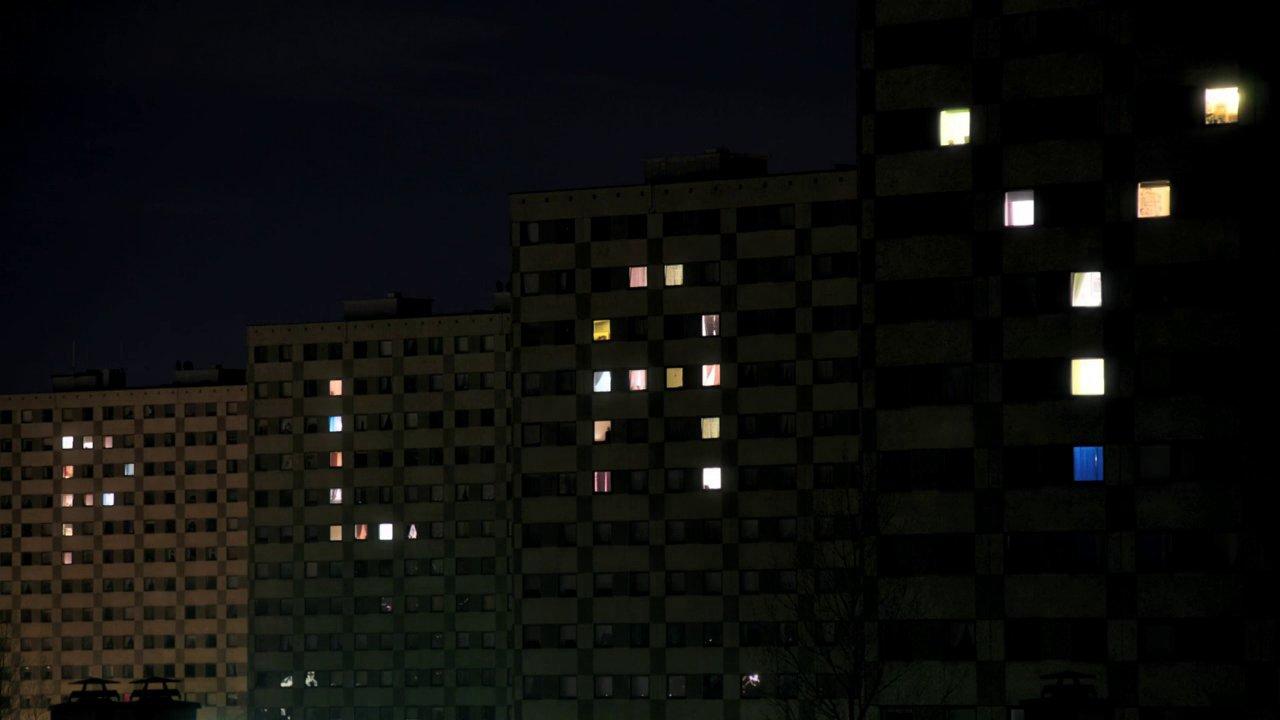 video featuring housing block lights