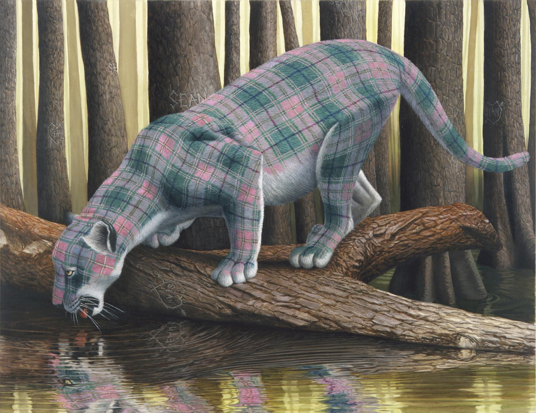 Delightfully Surreal Paintings Of Plaid Animals By Sean