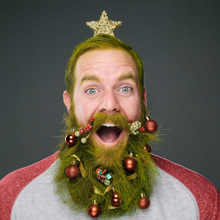 Beard Baubles, Tiny Christmas Ornaments That Men Can Hang From ...