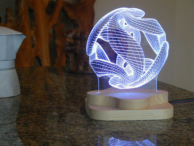 Beautiful 3d Lighting Sculptures Made From Engraved