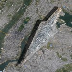 A Visual Size Comparison of a Star Wars Super Star Destroyer and Manhattan