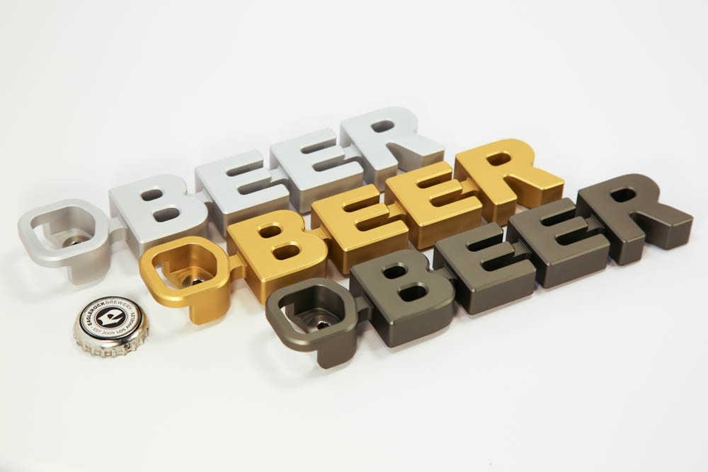 a cleverly designed magnetic bottle opener that boldly spells out what it desires most - Magnetic Bottle Opener