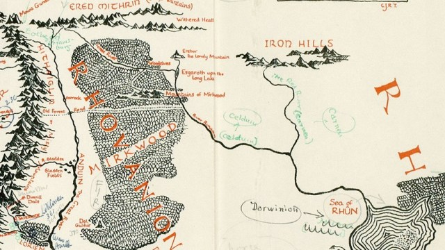 bookstore finds a rare map of middle earth annotated by tolkien inside copy of
