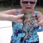 Giant Frog Rescued From a Swimming Pool Meows Loudly When Petted