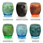 A Beautiful Glassware Set Based on Planets, a Moon and a Space Station From the Star Wars Universe