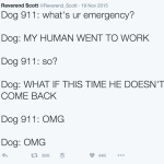 A Hilarious Series of Tweets That Imagines What Dogs Would Say If They Could Call 911