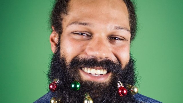 Beardaments Tiny Christmas Ornaments and Festive Glitter Used to