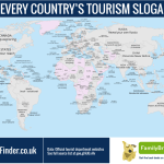 A Map Featuring Every Country's Tourism Slogan