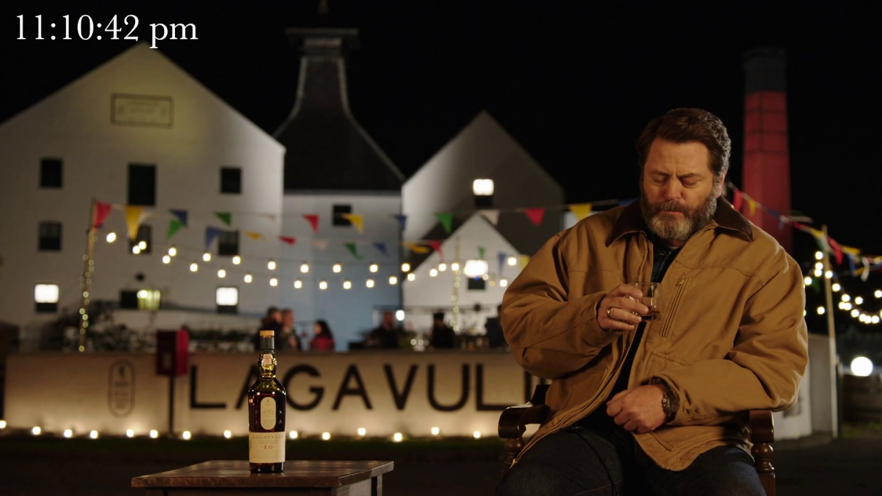 Nick Offerman Silently Drinks Single Malt Scotch Whisky in Front ...
