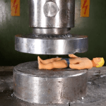 Crushing Stretch Armstrong With a Hydraulic Press