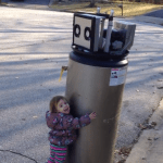Little Girl Declares Her Love for Abandoned Water Heater on the Street That She Thinks Is a Robot