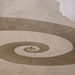 Former Surfer Carves Large Scale Geometric Designs Into the Sand of Beaches Around the World