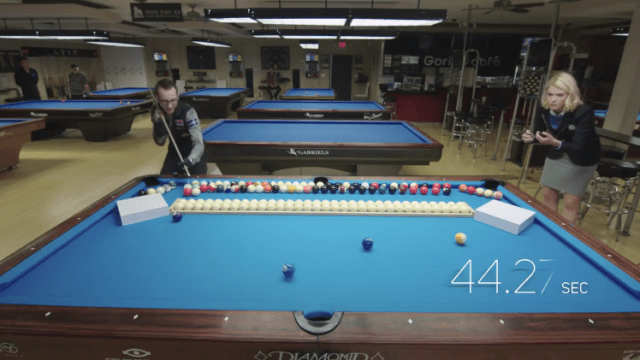 Japanese TV Show Contestants Dress As Billiard Balls And Act Out A - Guinness pool table