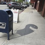 Street Artist Paints Fantastic Fake Shadows Under Objects Perplexing Sidewalk Pedestrians Walking By