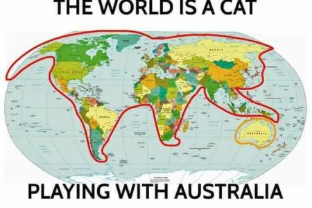 Map shape like cat free wallpaper for maps full maps twitter thisjustin earth is shaped like a cat and australia is a hairball p map proves it s a cat s world and we re just living in it petcha cat map gumiabroncs Choice Image