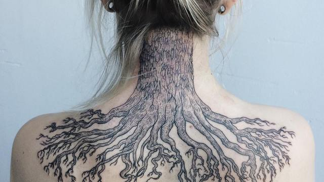Line Art Tattoos : Surreal storybook style black and white line art tattoos by susanne