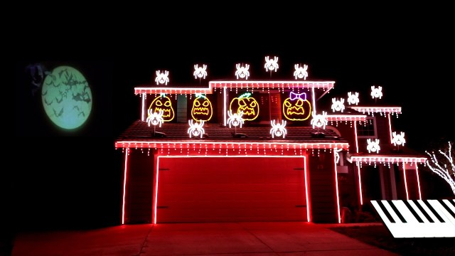 a spooktacular nightmare before christmas light show synced to the song this is