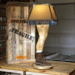 Woodworker Makes Manly Version of the Leg Lamp From 'A Christmas Story' Based on His Own Leg