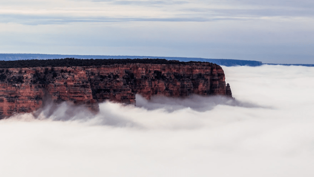 A Blind Man Explains His Idea Of Outer Space Fog The Grand - Rare weather event fills grand canyon with fog and gives us this breathtaking sight