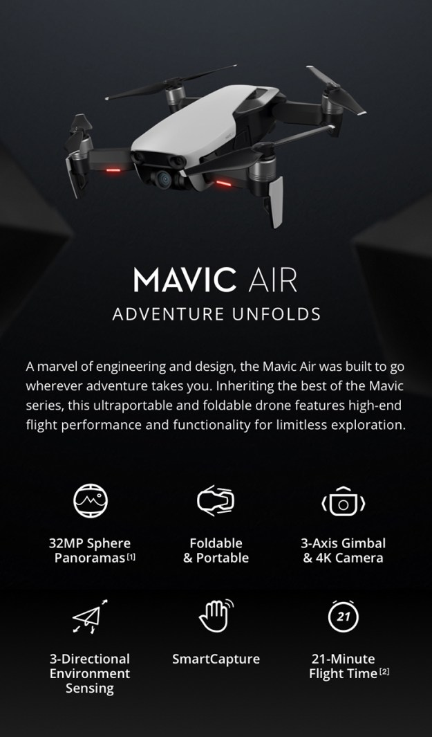 dji-mavic-air-5 Mavic Air, DJI's Ultraportable and Foldable 4K Digicam Drone That Can Practice an Lively Matter Random