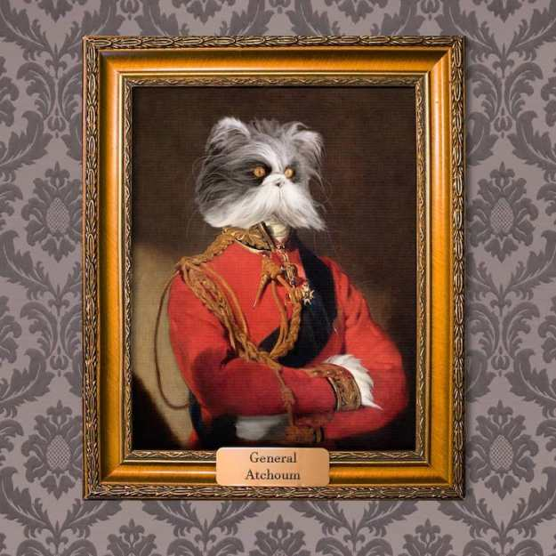 general-atchoum Mantelpiece Masterpieces, Grand Customizable Portraits That Function Aristocratic Canines and Cats Random
