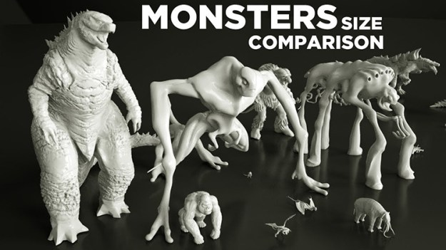 monsters-size-comparison-in-movies Comparing the Sizes of Movie Monsters Random