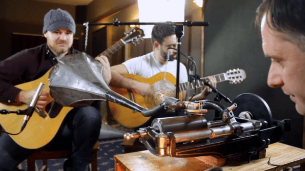 short-song-on-100-year-old-wax-cylinder-rob-scallon Rob Scallon Information Acoustic and Steel Songs on 100 Yr Outdated Wax Cylinder Recording Apparatus Random