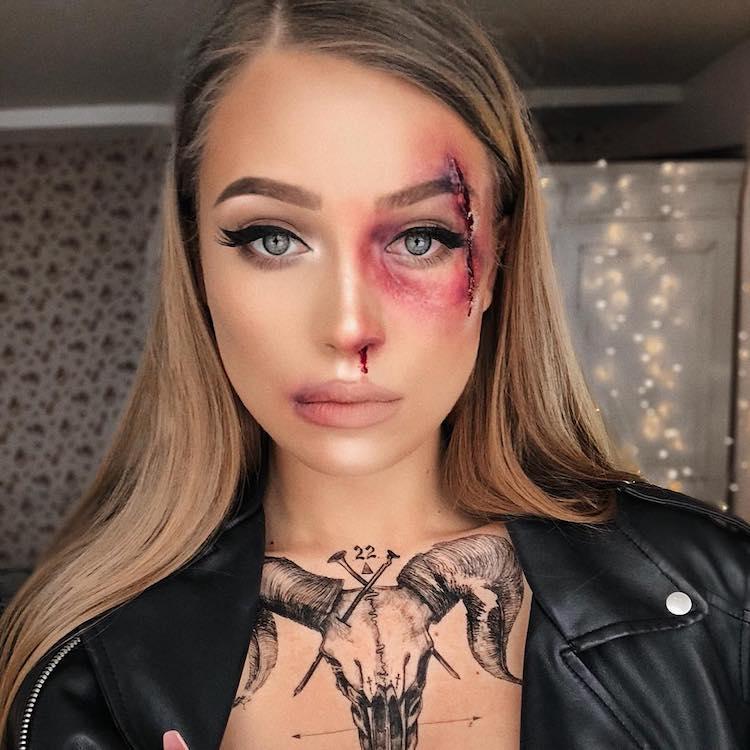 black-eye Lithuanian Makeup Artist Creates Wonderfully Disturbing Illusions Using Herself as a Palate Random