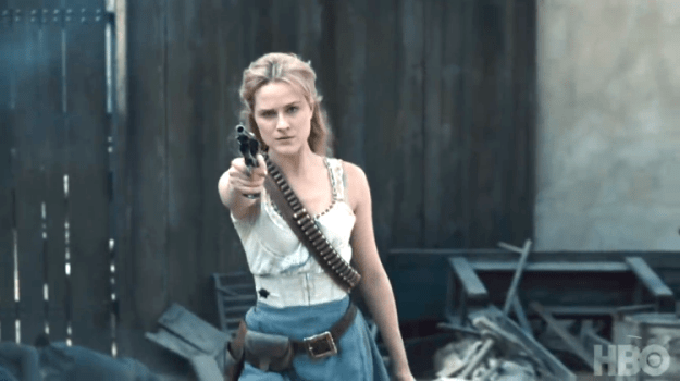 dolores-westworld1 The Fully Realized Android Hosts Wage a Bloody War on Humans in the Second Season of 'Westworld' Random