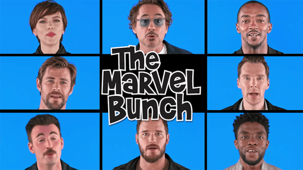 avengers-infinity-war-cast-sings-the-marvel-bunch Avengers: Infinity War Cast Sings a Marvelous Brady Bunch Theme Song Parody on The Tonight Show Random