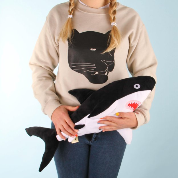 black-shark Soft Huggable Brightly Colored Shark Plushies Random
