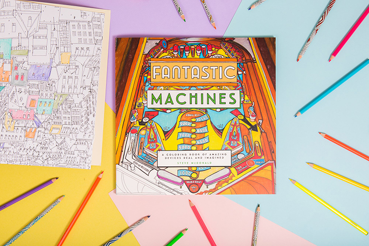 fantastic-machines-2 Fantastic Machines, A Coloring Book Filled With Fun Images of Real and Imagined Devices Random